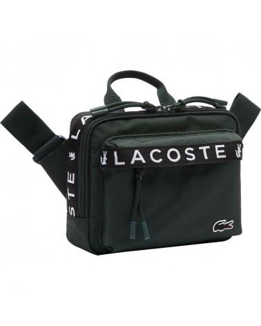 Lacoste - Neocroc Lacoste Striped Canvas Belt Bag - Green
