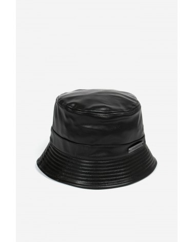 Wasted Paris - Lula Faux Leather Bucket Hat - Black