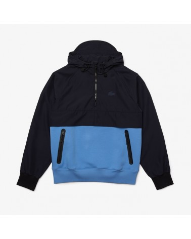 Lacoste - Bimaterial Pullover Jacket - Navy/blue